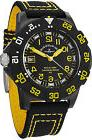 Zeno Men's 6709-515Q-A19 Divers Black Dial Black/Yellow Fabr