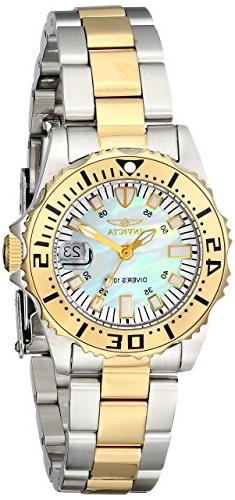 Invicta Women's 6895 Pro-Diver Stainless Steel 18k Yellow Go