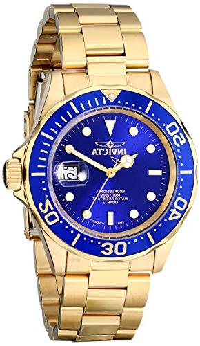 9312 diver gold tone stainless