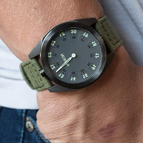 Barton Canvas Watch Band Choose Color & Width - - Army