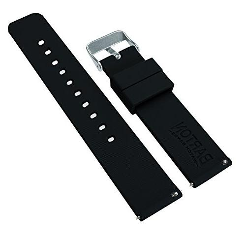 Barton Bands - Quick Straps - Choose Color & Width 18mm, 20mm, 22mm, Black 22mm