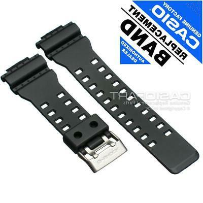 Casio Mens G-Shock Resin Replacement Watch Band Black