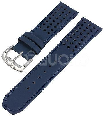 23mm blue leather watch band for blue