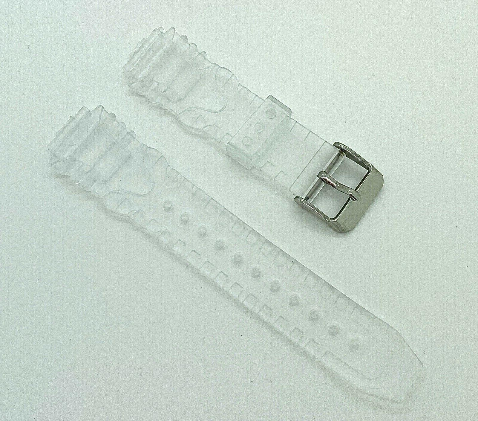 Clear Jelly Rubber Watch Band fits Technomarine Watch