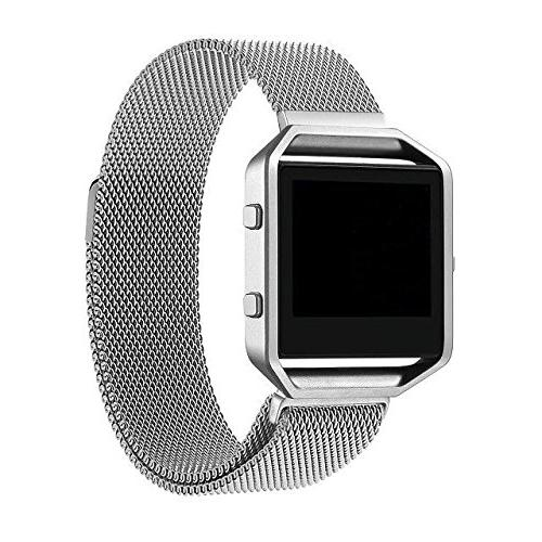For Fitbit Blaze Band, Wearlizer Milanese Loop Watch Band Re