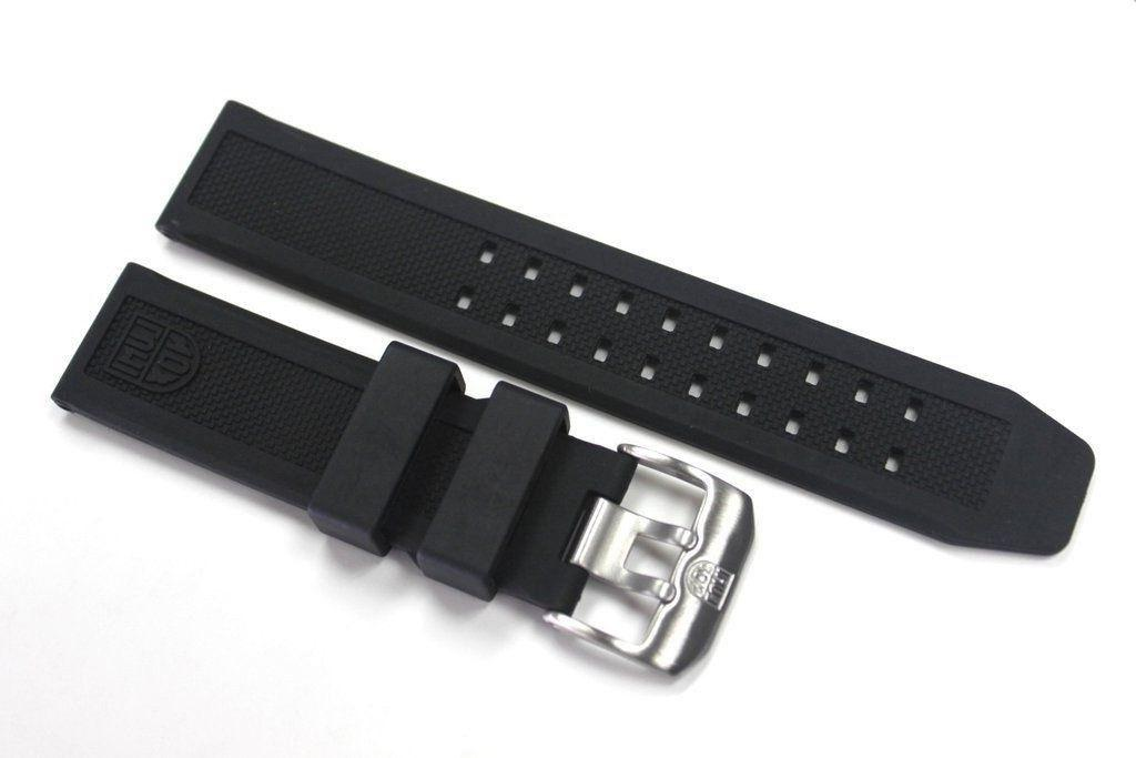 Luminox 23mm FP.L.ES Rubber Watch Band Strap Colormark NAVY