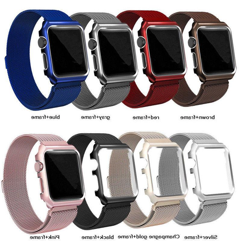 Milanese Stainless iWatch Band Case Apple Watch