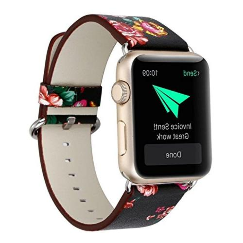 New Apple Watch Band 42 mm  Leather Stylish Bracelet Series