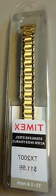 New Womens Timex Stainless Steel Expansion 11-14mm Yellow Go