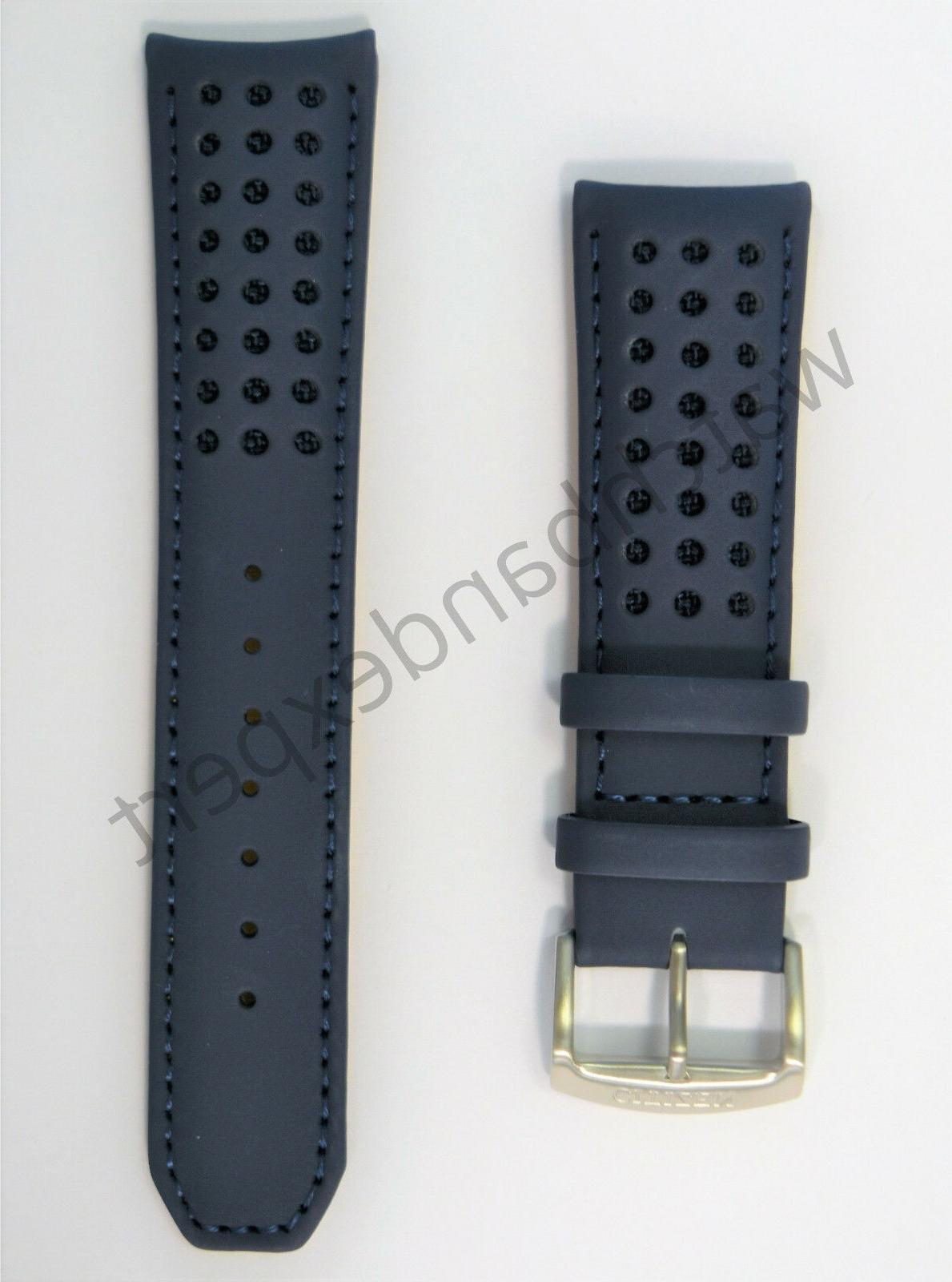 Original 23mm AT8020-03L H800-S081165 Blue Angels Leather Band Strap