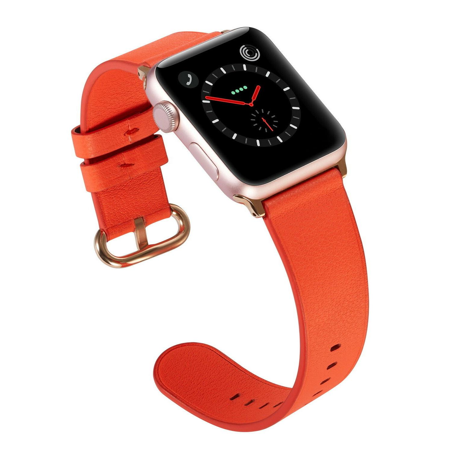 PASBUY Leather Strap for Apple Watch 3 1 Hermes