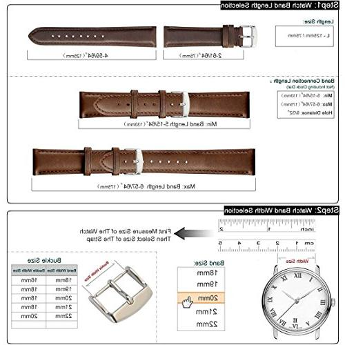WOCCI 18mm - Vintage Leather Strap Silver