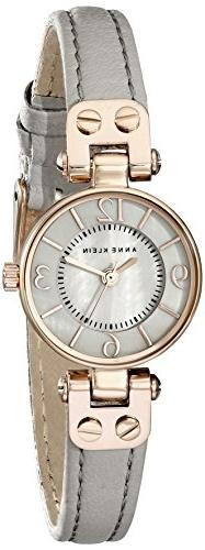 Anne Klein Women's AK/2030RGTP Rose Gold-Tone Watch With Gre