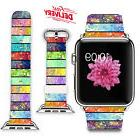 New Apple iWatch Band Viwell COLORFUL LEATHER Strap for 42mm