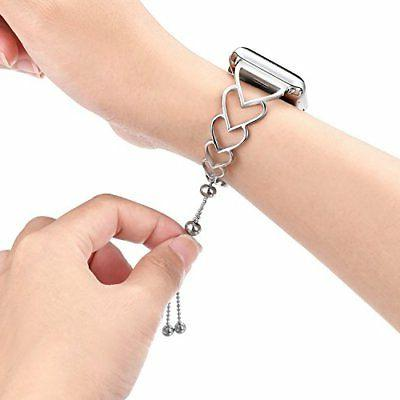 For Apple Watch Band 38/40 42/44 Bangle Silver Strap US