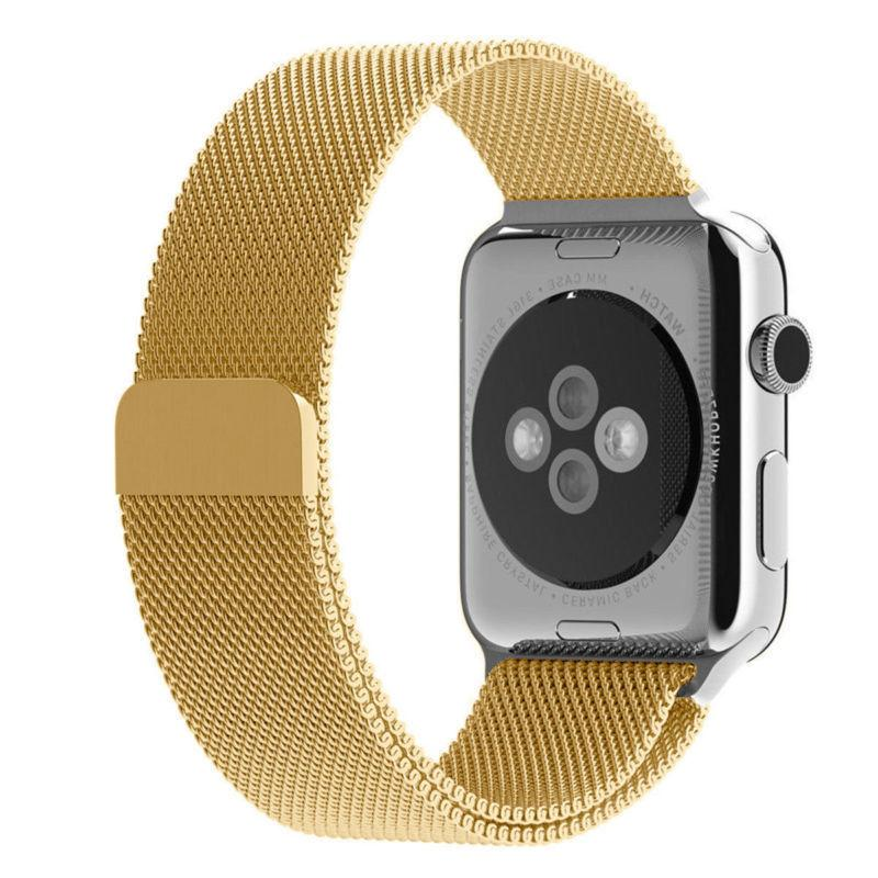 For Apple Watch 42mm 38mm 44mm 40mm Series Milanese Steel