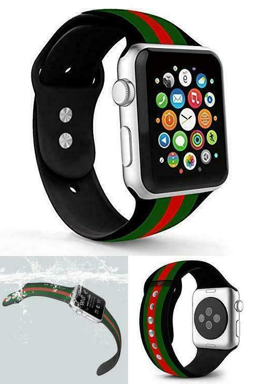 for Gucci Iwatch Silicone 44mm Series 4