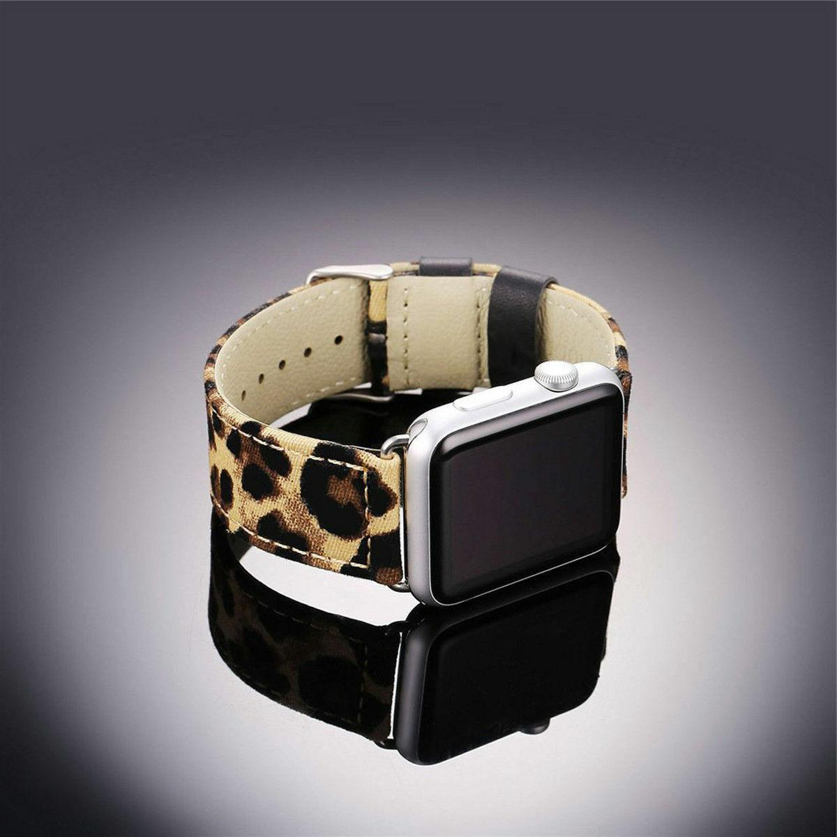 For Leopard Print Strap 42mm 44mm Series 1 2 3