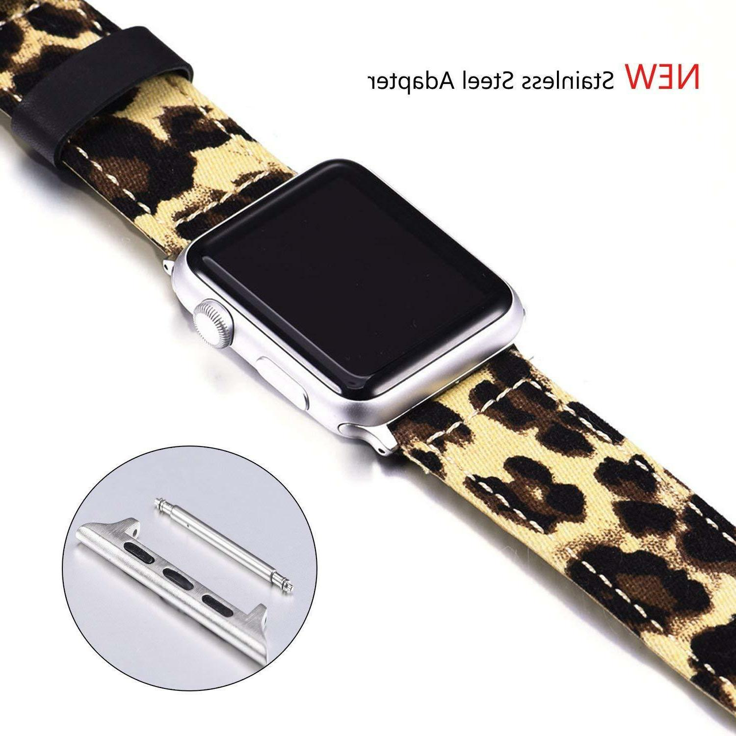 For Apple Watch Band Leopard Print Strap 42mm 44mm Series 1 2 3
