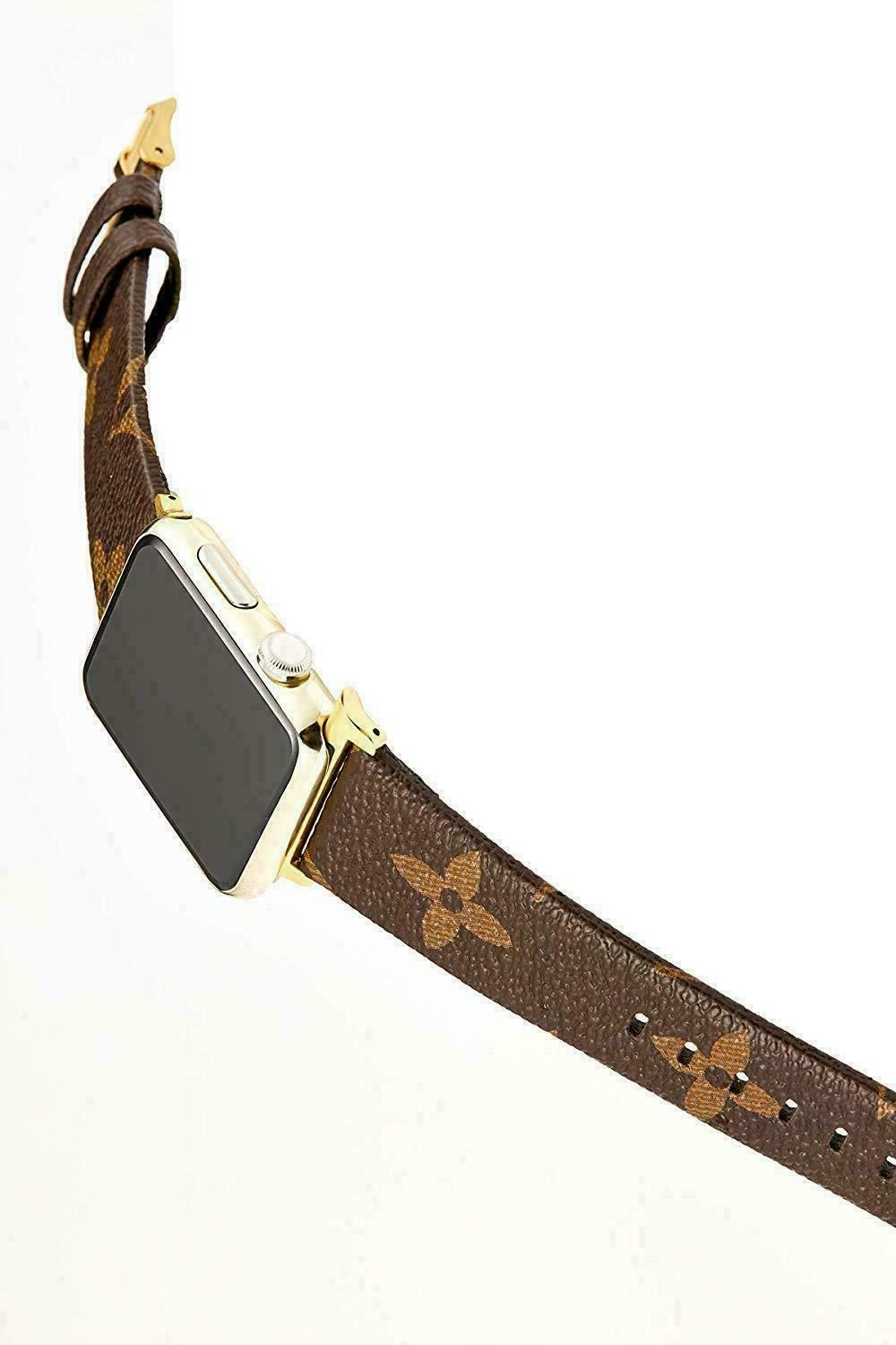 For Apple Watch Luxury GG LV Brown Strap 40/44mm