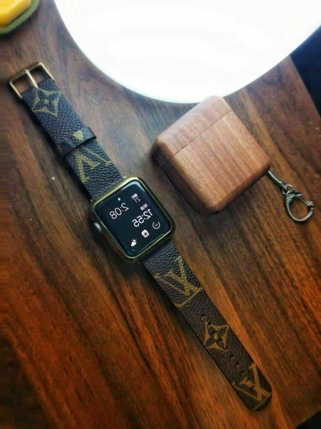 For Apple Luxury LV Brown Strap