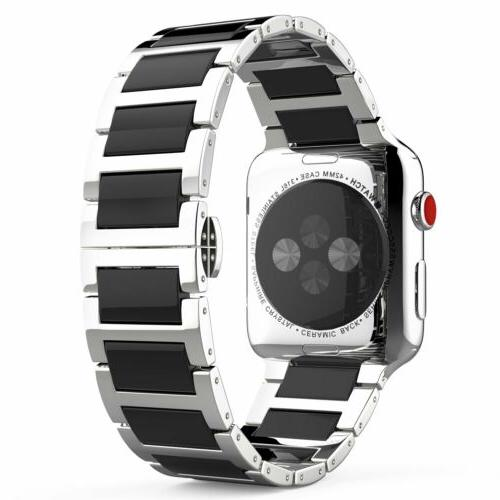 Apple Watch Band MoKo Stainless Steel Butterfly Buckle Clasp
