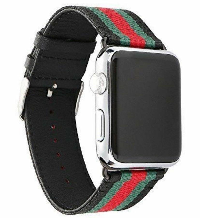 Apple Watch Band Strap Gucci Pattern Sport Replacement Leath