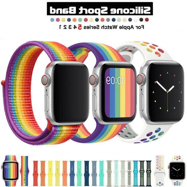 For Apple Watch Nylon Silicone Series