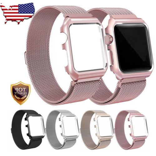 For Apple Watch Series 3/2/1 Milanese Stainless Steel Watch