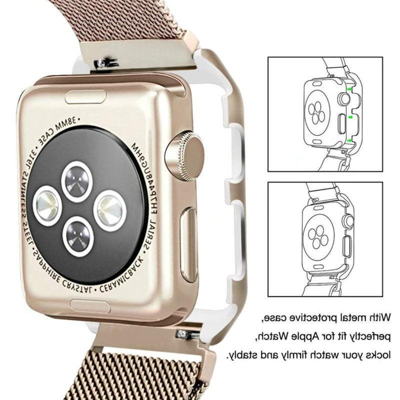For Apple 3/2/1 Stainless Steel Watch Strap 38mm/42mm
