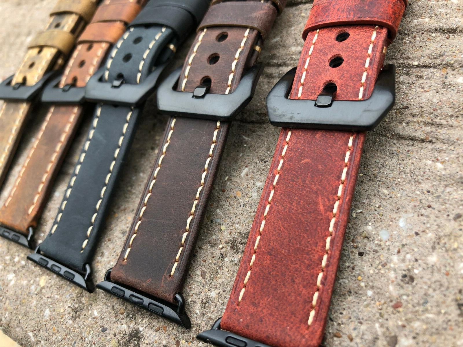 For Watch 4 1 Vintage Bull Watch Strap Band