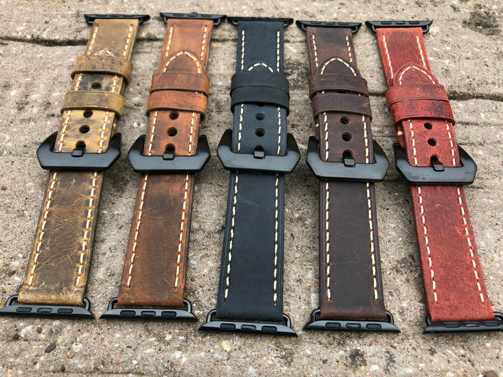 For Apple Watch 4 3 Vintage Replacement Watch Strap