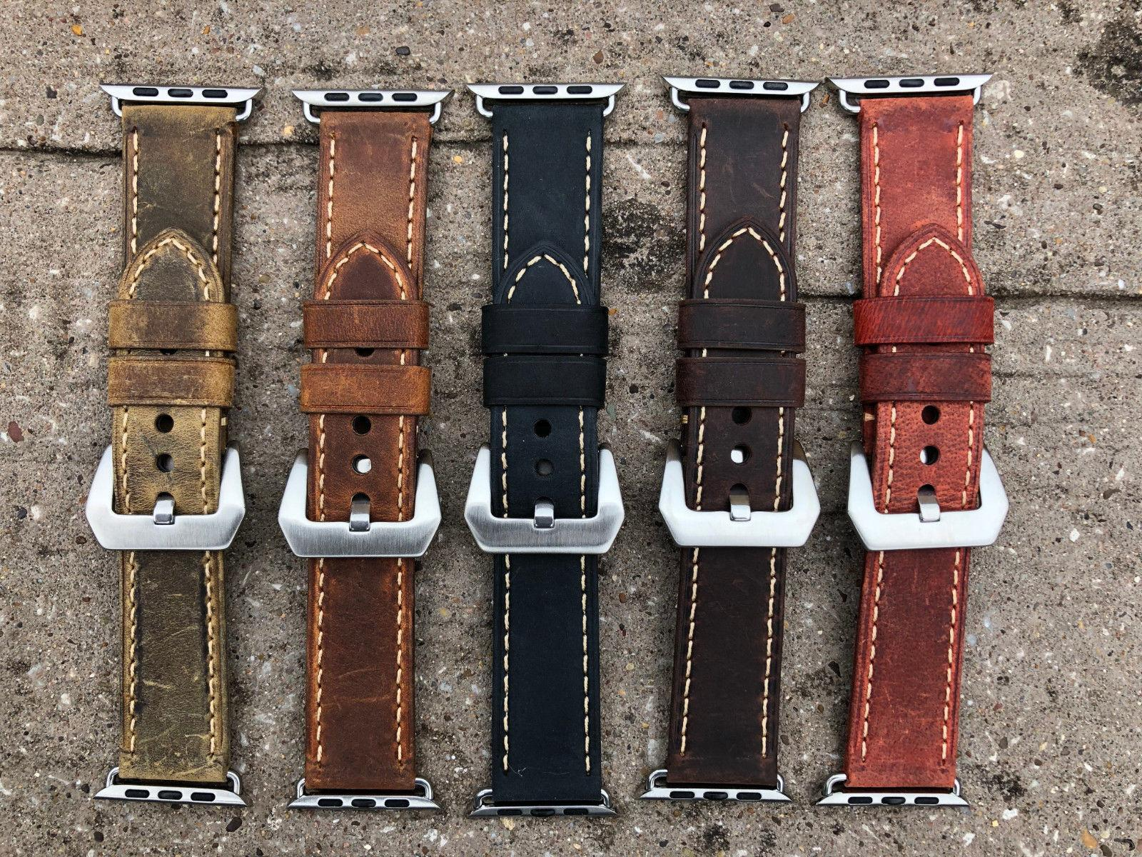 For Apple Watch 4 Vintage Leather Watch