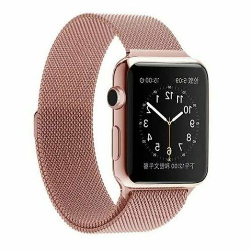 For Apple Series 4 40mm Magnetic Milanese Band Steel