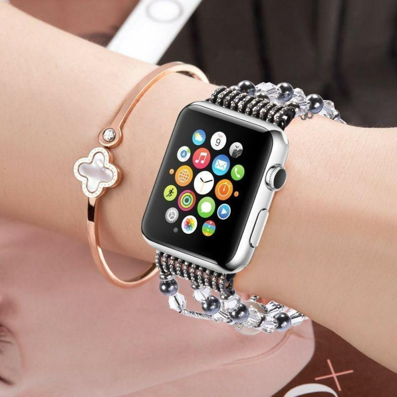 For Series 4 Bling Beads Bracelet Band iWatch