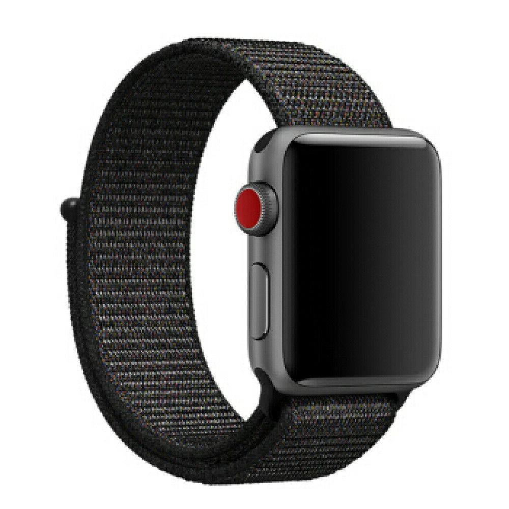 For Apple 5 4 38/40 42/44mm Woven Nylon Loop iWatch Band