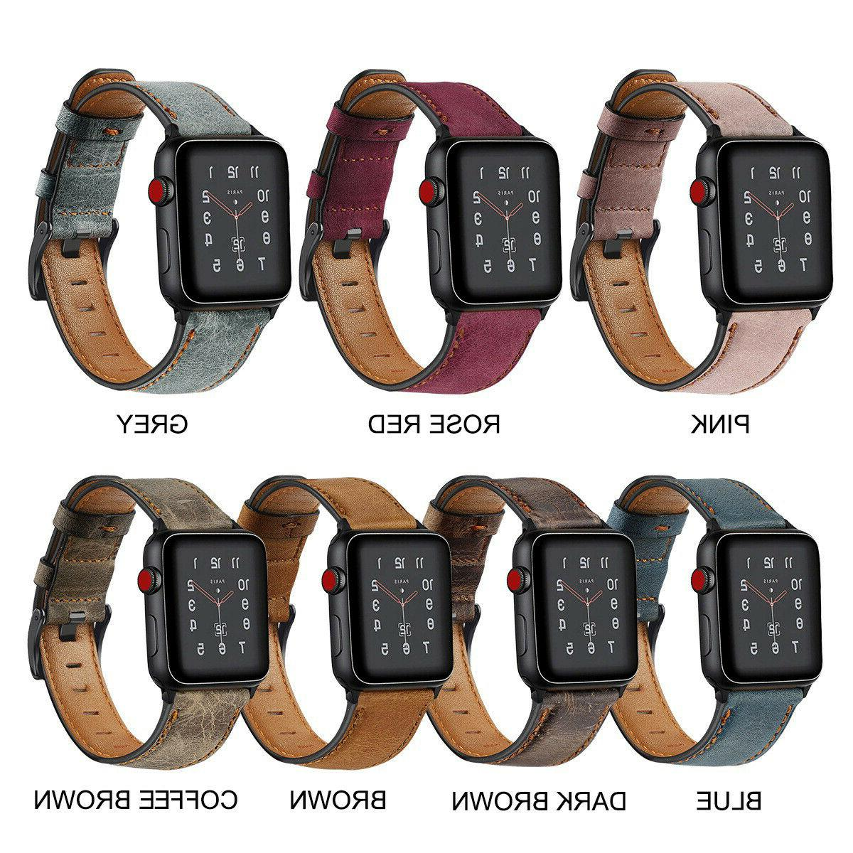 Authentic Leather Apple Band Series 4 3 *FREE SAME