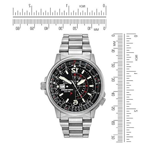 Citizen Men's Eco-Drive Nighthawk Dual Time with Date,