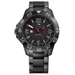 Men's Black Tommy Hilfiger Cole Ion-Plated Steel Watch 17909