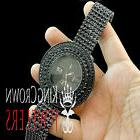 All Black Iced Out Sensuous Rapper Style Lab Diamond Watch C