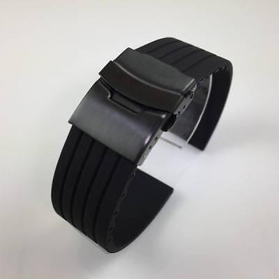 Black Watch Band Double Locking Buckle