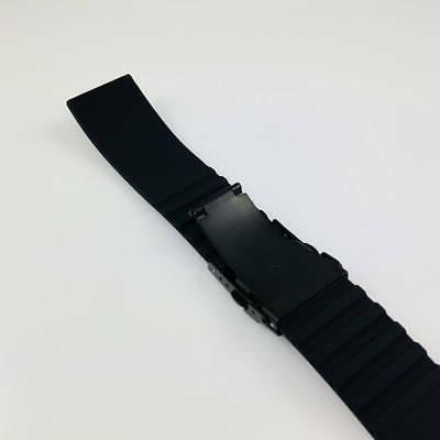 Black Silicone Watch Strap Double