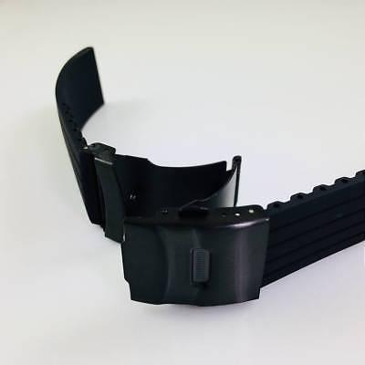 Black Silicone Replacement Watch Double Locking