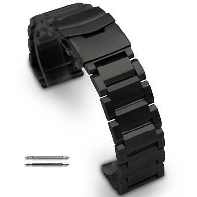 Black Stainless Steel Links Bracelet Replacement Watch Band