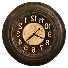 Howard Miller 625-545  Bozeman Wall Clock - Worn Brown