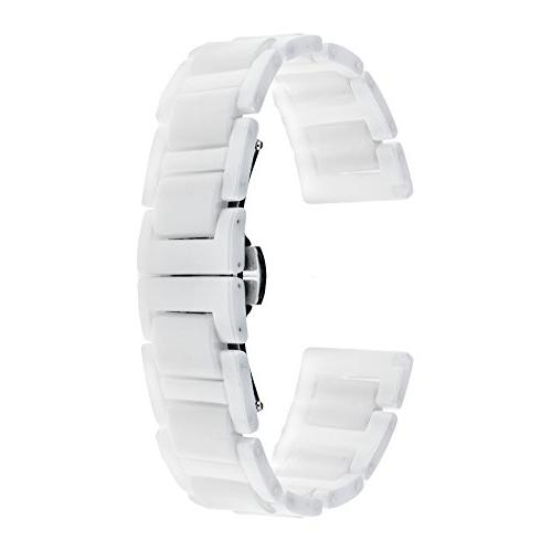 ceramic watch band butterfly buckle