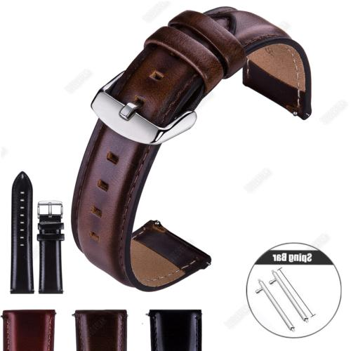 quick release genuine leather watch band strap