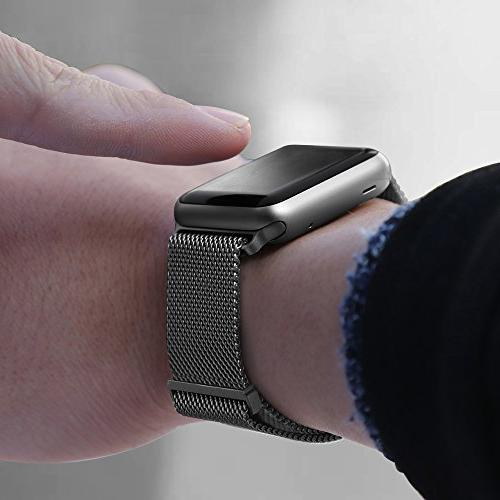 BRG Watch Band 38mm,42mm Steel Mesh Replacement for iWatch Compatible Apple Series 4 1