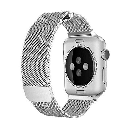 OROBAY with Band 42mm Steel Milanese Magnetic Compatible with Watch Series 4 Series 3 2