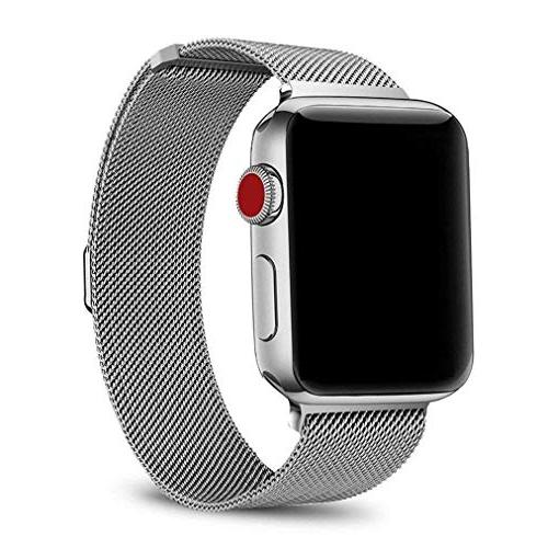 OROBAY Compatible Watch Band 42mm 44mm, Steel Magnetic Closure Compatible 4 Series 3 2 Series